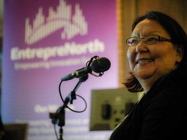 Joanna Awa, host of EntrepreNorth, Iqaluit 2018