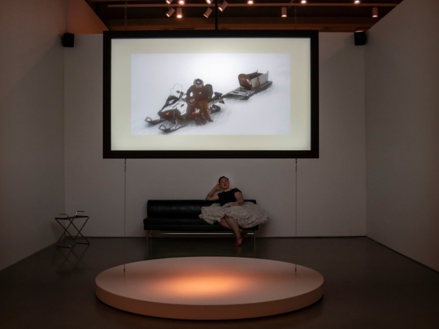 Art Gallery of Ontario, video installation of 'Silaup Putunga' by Laakkuluk Williamson Bathory, Jamie Griffiths and Celina Kalluk.