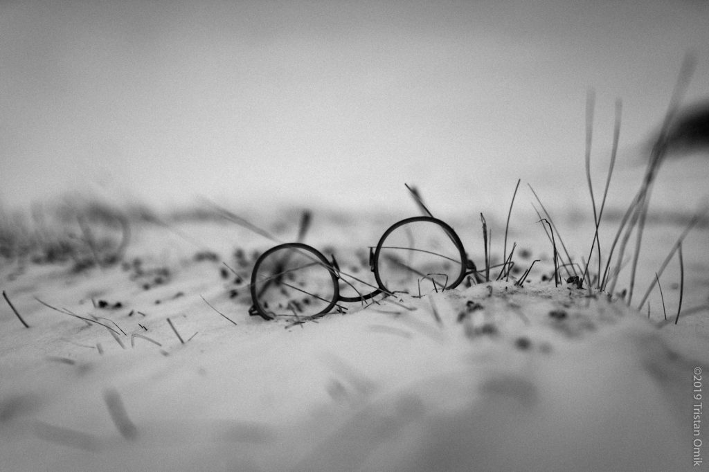Eyeglasses on the snowy tundra
