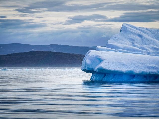Iceberg near to shore, Iqaluit, Nunavut