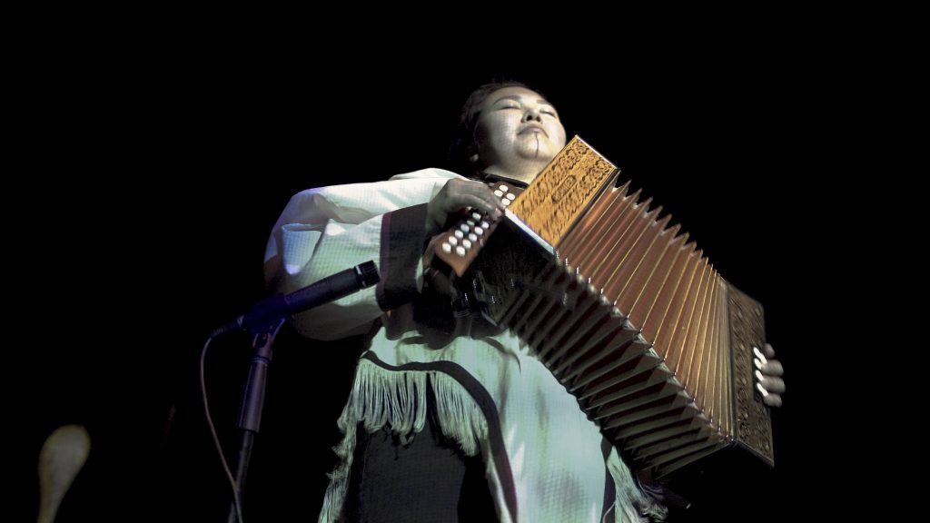 Christine Tootoo on the button accordion  in Ikumagialiit