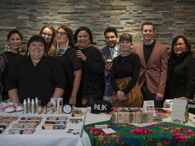 Business owners and their products on display at EntrepreNorth, Iqaluit 2018