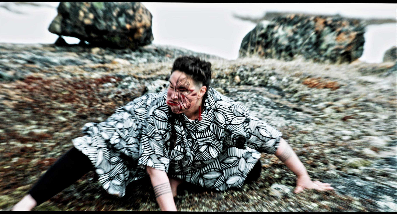 Film still of Laakkuluk from Aatooq